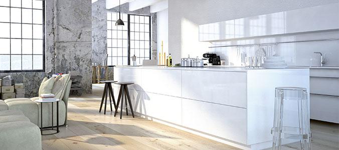 Façade cuisine blanc sur mesure I Love Details
