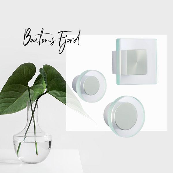 Boutons de meuble en verre FJORD I Love Details