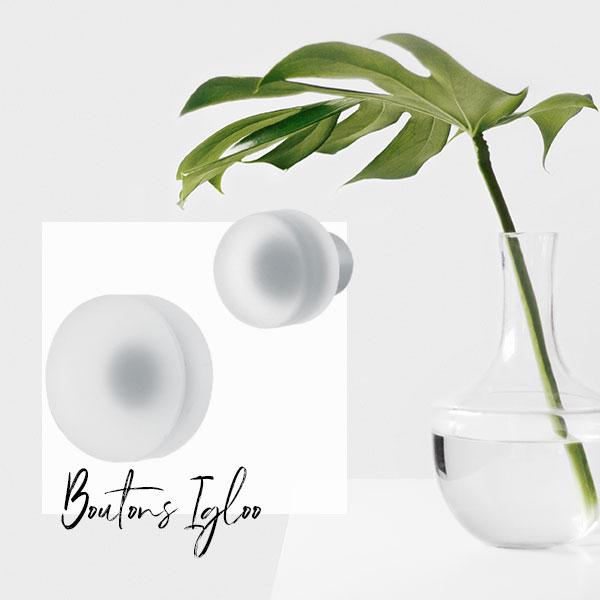 Bouton de meuble verre dépoli IGLOO I Love Details