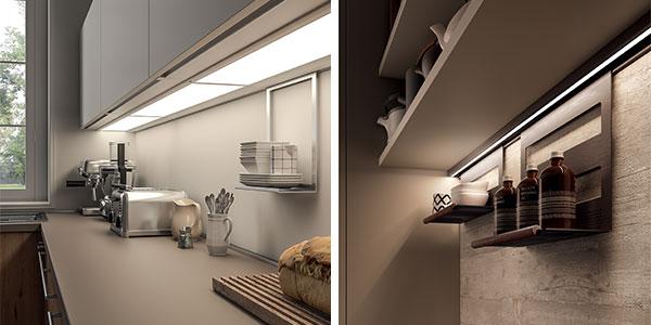 Panneau LED et barre de crédence lumineuse