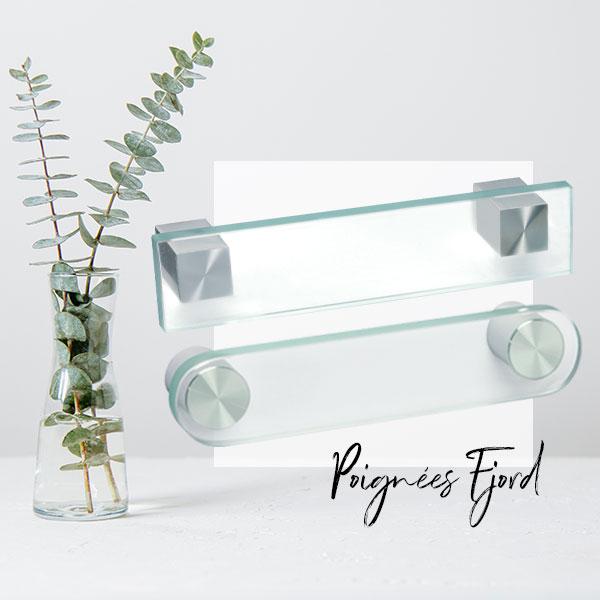 Poignées de meuble verre FJORD I Love Details