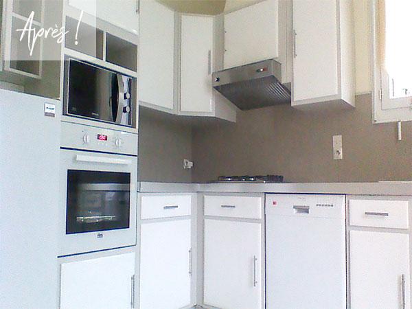 Rénovation cuisine blanc laqué