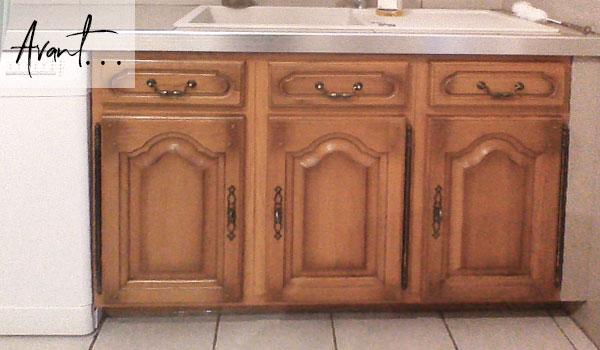 Changer portes meuble chene rustique