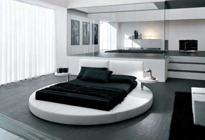 une chambre en noir et blanc i love details. Black Bedroom Furniture Sets. Home Design Ideas