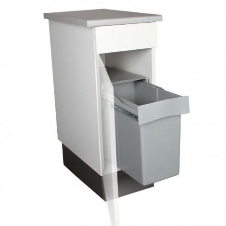 poubelle de cuisine coulissante 1 bac 30 litres